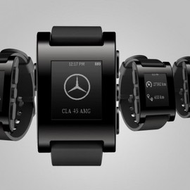 Mercedes-Benz - Pebble Smartwatch - Black