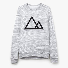 Ugmonk - Mountains Crewneck (Marbled Gray)