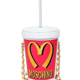 MOSCHINO - FW2014 MILK SHAKE LEATHER SHOULDER BAG