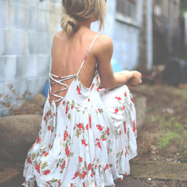 Free People - Free People Circle of Flowers Dress