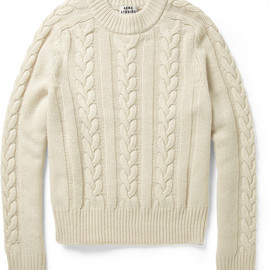 Acne - Acne Brent Cableknit Wool Sweater in Beige for Men (Neutrals) - Lyst