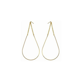 by boe - TEAR SHAPE WIRE EARRING large gold