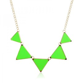 alanatt - Five Green Triangles Necklace