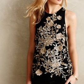 Golden Flowervine Tank #anthropologie