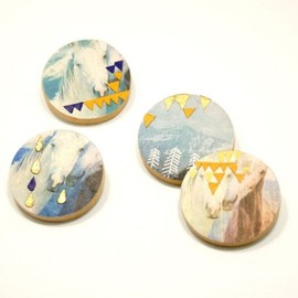 nomoi - Mountains brooch -RESERVED for FancifulDelight