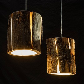 Duncan Meerding - Cracked Log Pendant Light