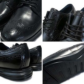 Cole Haan - LONG WING TIP BLACK/BLACK