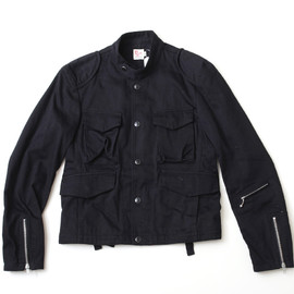 D Lewis - Pated Cotton Riders Jacket