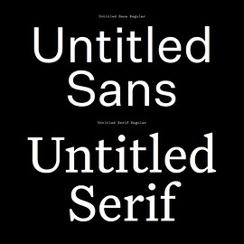Klim Type Foundry - Untitled Sans & Untitled Serif
