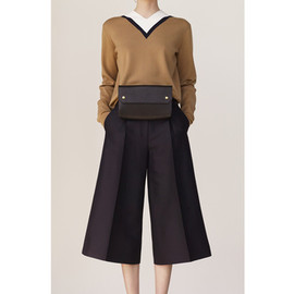 CELINE - キュロット Culotte in Navy Silk Wool Mikado