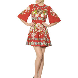 DOLCE&GABBANA - SS2014 LINEN BELL SLEEVED DRESS