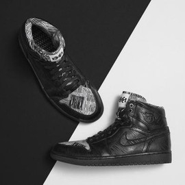 Nike - NIKE AIR JORDAN 1 RETRO HIGH BHM BLACK/WHITE