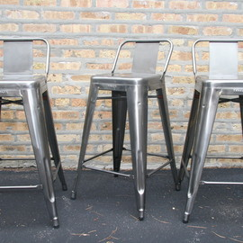 Tolix - Stools with backrest
