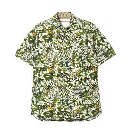White Mountaineering - RAYON/COTTON BOTANICAL PRINT HALF SLEEVES SHIRT