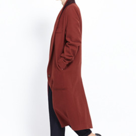 Maison Martin Margiela - Oversized Long Coat (Firebrick)