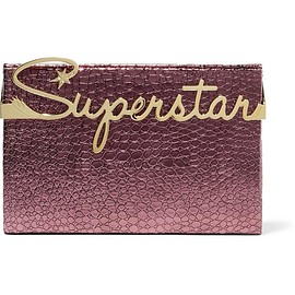 Charlotte Olympia - Superstar Vanity croc-effect leather clutch