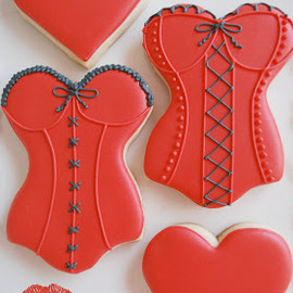 The Baking Sheet - Sexy Valentine's Day Bustier Cookies!