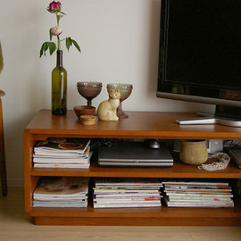 idee - MALUH TV CABINET White Ash ANTON Brown
