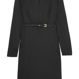 Max Mara - Tivoli stretch-wool crepe and silk crepe de chine dress