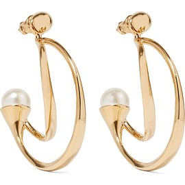 Chloé - Darcey gold-plated faux pearl earrings