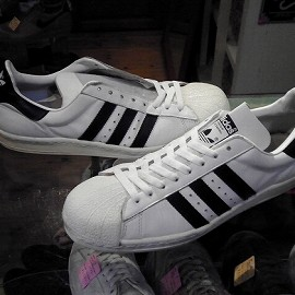 """adidas - 「<used>80's adidas SUPERSTAR white/black""""made in FRANCE"""" size:GB9/h(28cm) 32800yen」完売"""