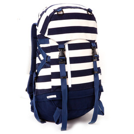 CASHCA ×immun. - CANVAS 40L BACK PACK/NAVY BORDER