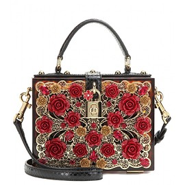 DOLCE&GABBANA - Embellished shoulder bag with snakeskin