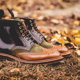 "Grenson - x Social Status 2013 Holiday ""Beef & Broccoli"" Wingtip Brogue Boot"