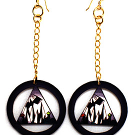 "The ""Golden Cage"" Earrings"