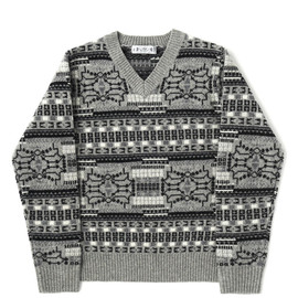 bal - NORDIC V NECK SWEATER