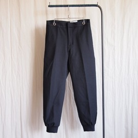 YAECA - Easy Rib Pants #navy