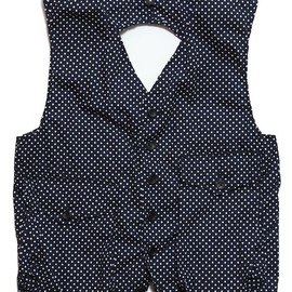 ENGINEERED GARMENTS - Logan Vest - Big Polka Dot
