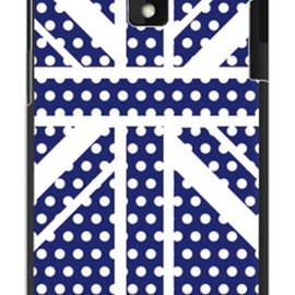 SECOND SKIN - Cross dot union jack ネイビー(クリア) design by ROTM / for HTC J ISW13HT/au