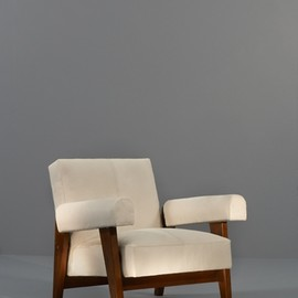 "Pierre Jeanneret - Chandigarh ""High Court Armchair, Teck wood & horse hair, ca 1955"