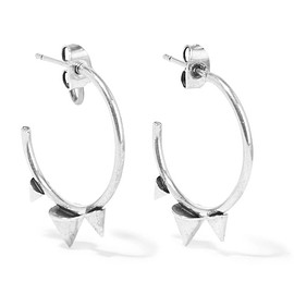 Isabel Marant - Spiked silver-tone hoop earrings