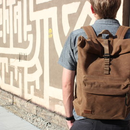 MUNI - Ferre Rolltop Waxed Canvas Backpack