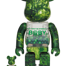 MEDICOM TOY - MY FIRST BE@RBRICK FOREST GREEN Ver. 100% & 400%