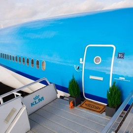 KLM at Schiphol Airport in Amsterdam - Spacious Airplane Apartment on Airbnb