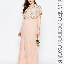 ASOS - Image 1 of Fame And Partners Plus Maxi Dress With Fishtail