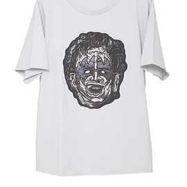 NADA. - Leaher face tee / Light gray