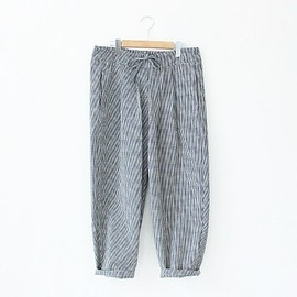 Lin francais d'antan - Cotton Check Pants〈Barouh〉/ Black Check