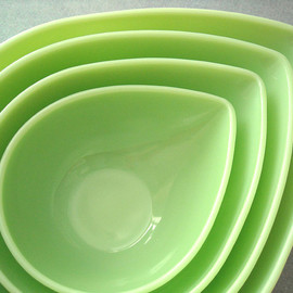 "Fire King - Jadeite ""Swedish Modern Bowls"