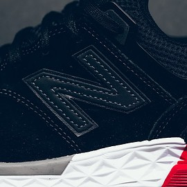 New Balance - MS574AB - Black/White/Red