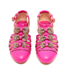 CROON - Handmade Leather and Glitter Sandals