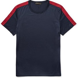 Burberry - Slim-Fit Grosgrain-Trimmed Cotton-Jersey T-Shirt