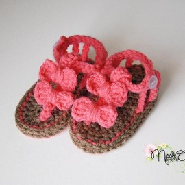Luulla - Baby Crochet Bow Sandals