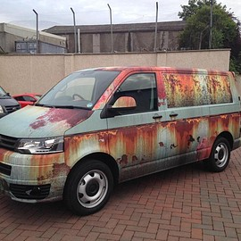 Volks Wagen - Full colour digitally printed wrapping Transporter