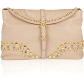 miu miu - studded leather clutch