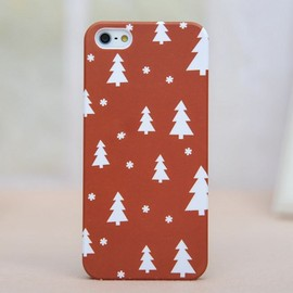 iphone 4/4s/5 - Christmas Tree with Snowflake Red Cover Frosted Case for Iphone 4/4s