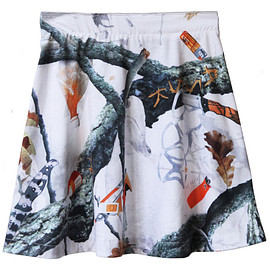 ASSK - Image of APOCALYPTIC FOREST Skirt - White